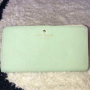 Mint Kate Spade Wallet